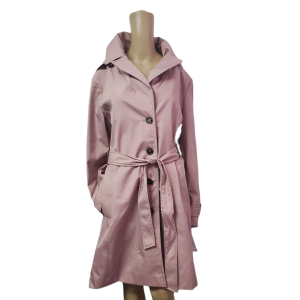 Calvin Klein Womens Belted Water-resistant Hooded Trench Coat Polyester Rosewood Pink XLarge from Affordable Designer Brands
