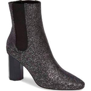 Donald Pliner Laila Booties Silver Glitter Suede 7.5M  Affordable Designer Brands