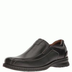 Dockers Shoes Mens Agent Bike Toe Loafer Leather Black 9.5M Affordable Designer Brands
