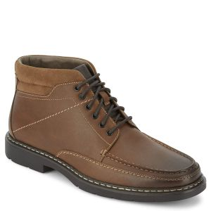 Dockers Men's Landers Casual Medium Brown Tan Faux Leather Boots 8.5 M from Affordable Designer Brands