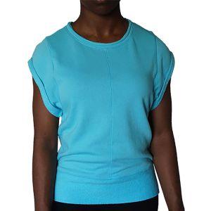 Calvin Klein Performance Aqua Blue Short-Sleeve Pullover Top
