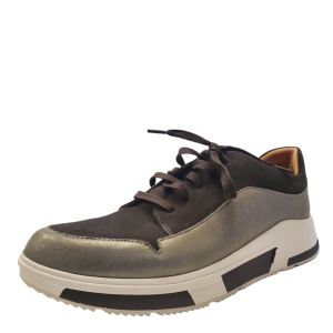FitFlop Mens Freya Low Top Sneakers Suede Grey 9M from Affordable Designer Brands
