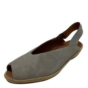 Gentle Souls Women's Luci Slingback Dusty Grey Fabric Espadrilles Sandals 7.5M Affordable Designer Brands