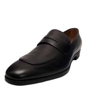 Boss by Hugo Boss Men's Kensington Penny Loafer Black 12M from Affordable Designer Brands