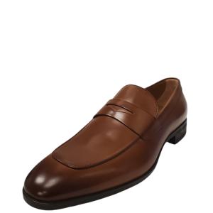 Boss by Hugo Boss Men's Kensington Penny Loafer Medium Brown 10.5M Affordable Designer Brands