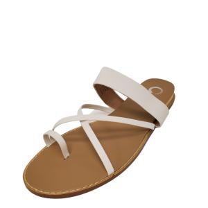 Journee Collection Womens Eevie Sandal White 12M Affordable Designer Brands