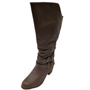 Journee Collection Womens Late Wide Calf Knee High Slouch Boot Dark Brown 9M from Affordable Designer Brands