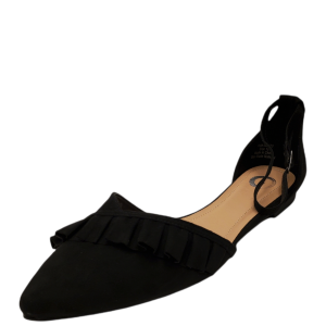 Journee Collection Womens Lazae D'Orsay Flat Black 12M from Affordable Designer Brands