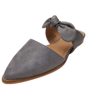 Journee Collection Womens Telulah Pointed Toe Mule Grey 8.5M from Affordable Designer Brands