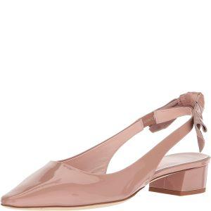 Kate Spade New York Womens Lucia Sling Back Beige Patent Sandals 10M from Affordable Designer Brands