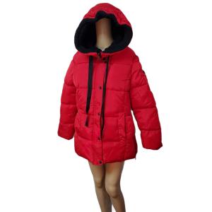 Madden Girl Womens Juniors' Faux-Fur Lined Hooded Polyester Puffer Coat Red Medium Affordable Designer Brands