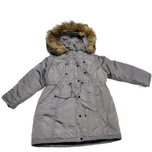 Madden Girl Womens Juniors' Faux-Fur Trim Hooded Anorak Parka Coat Silver Grey 2XL Affordable Designer Brands