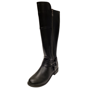 GBG Los Angeles Women's Harlea Wide-Calf Tall Riding Boots Black 7M  from Affordable Designer Brands