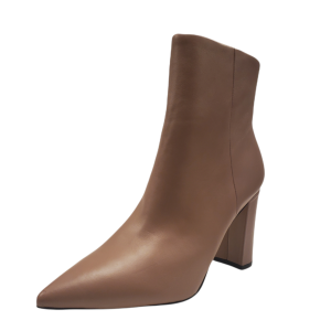 Marc Fisher Women's ML Lulani Leather Booties Light Natural 8M from Affordable Designer Brands