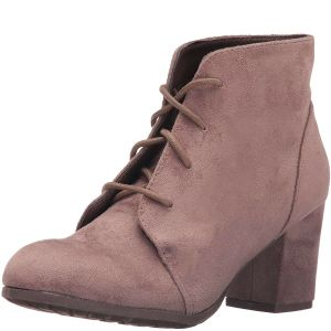 Madden Girl Torch Ankle Block-Heel Booties Dark Taupe 7.5M from Affordabledesignerbrands.com
