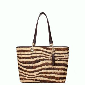 Michael Kors Malibu Large East West Top Zip Tote Natural  Affordable Designer Brands