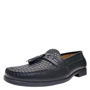 Nunn Bush Mens Strafford Tassel Woven Loafer Leather Black 8.5 W from Affordable Designer Brands