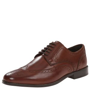 Nunn Bush Mens Nelson Wingtip Oxfords Shoes Leather Brown 7M from Affordable Designer Brands