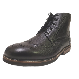 Nunn Bush Mens Odell Wingtip Chukka Boots Black Leather Tumble 9.5W Affordable Designer Brands