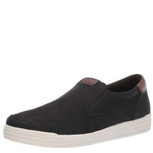 Nunn Bush Mens KORE City Walk Faux Leather Black Sneaker Loafer 8 W Affordable Designer Brands
