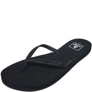 Reef Stargazer Manmade Glitter black Flip-Flop Slippers 9 M Affordable Designer Brands