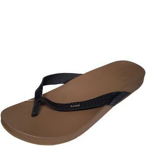 Reef Womens Cushion Bounce Court Manmade Black Flip-Flop Sandals 10M