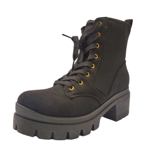 Sugar Women's Control Lug Sole Ankle Boots Black 7M from Affordable Designer Brands