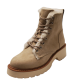 Madden Girl Women's Carra Faux-Fur Combat Booties Fabric Sand 6.5M from Affordable Designer Brands