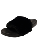 Sugar Women's Wuzz Fuzzy Slide Sandals Black 8M from Affordable Designer Brands