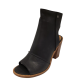 UGG Womens Valencia Peep-Toe Shooties Leather Black 10M from Affordable Designer Brands